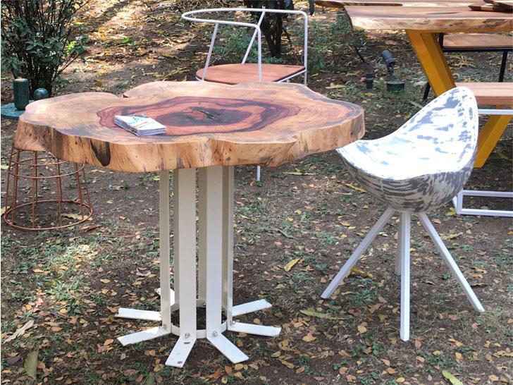 """""""log table top koy store milan design week 2018 indiaartndesign"""""""