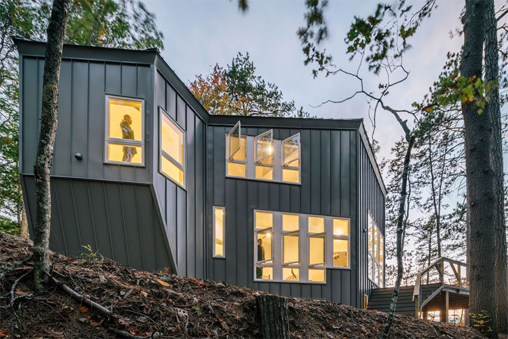 """rear lake cottage scalar architecture indiaartndesign"""