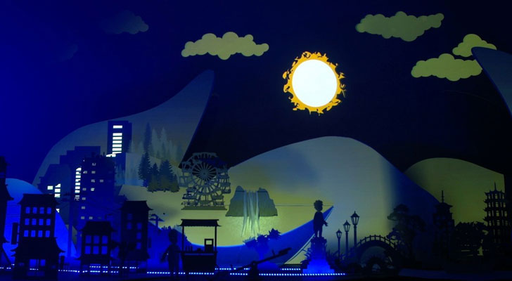 """lucion media shadow play full moon indiaartndesign"""