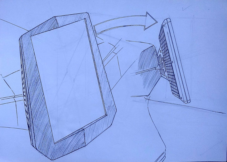 """touchscreen sketch strom R3 Strom motors indiaartndesign"""