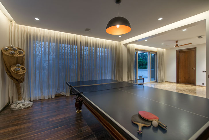 """games room Lalit Villa Think Designz indiaartndesign"""