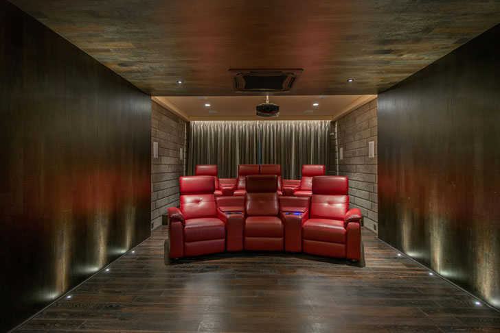 """home theatre Lalit Villa Think Designz indiaartndesign"""