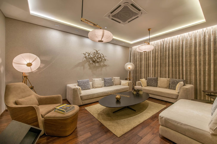 """luxurious living room Lalit Villa Think Designz indiaartndesign"""