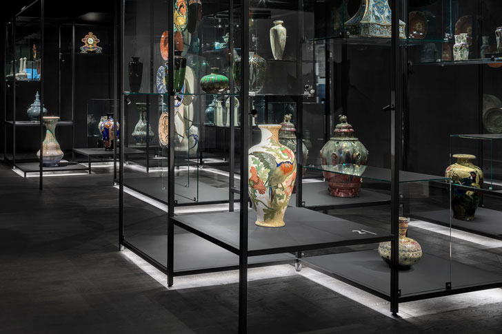 """display floor lights princesshof ceramics museum i29 interior architects indiaartndesign"""