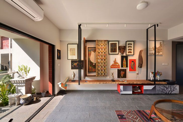 """display in the living room Ar Abin Chaudhuri home indiaartndesign"""