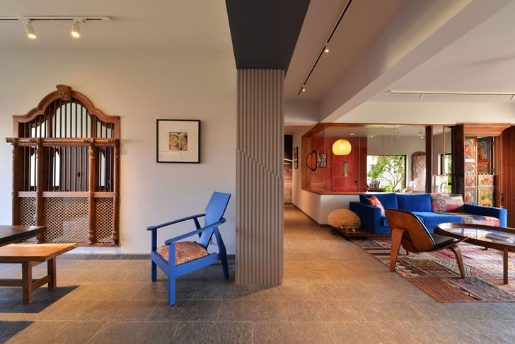 """open plan Ar Abin Chaudhuri home indiaartndesign"""