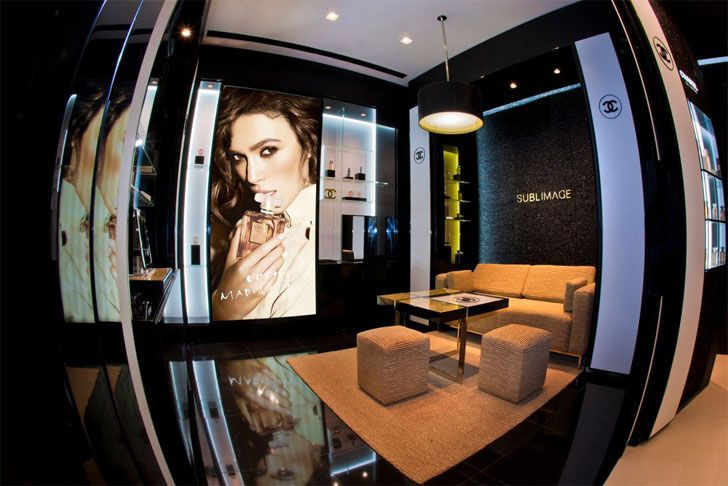 """seating Chanel Buenos Aires boutique BIRKA indiaartndesign"""