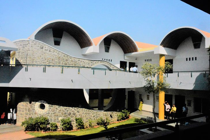 """vaulted roofs Tungal school building BSB architects indiaartndesign"""