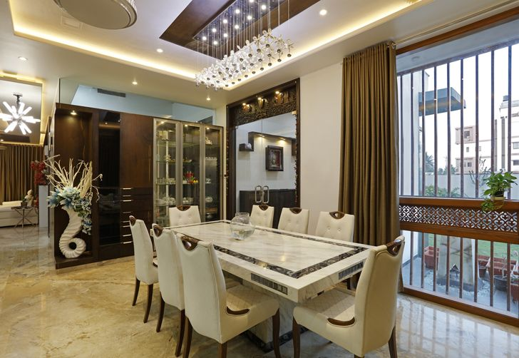 """dining area balaji fertisers guest house cluster one indiaartndesign"""
