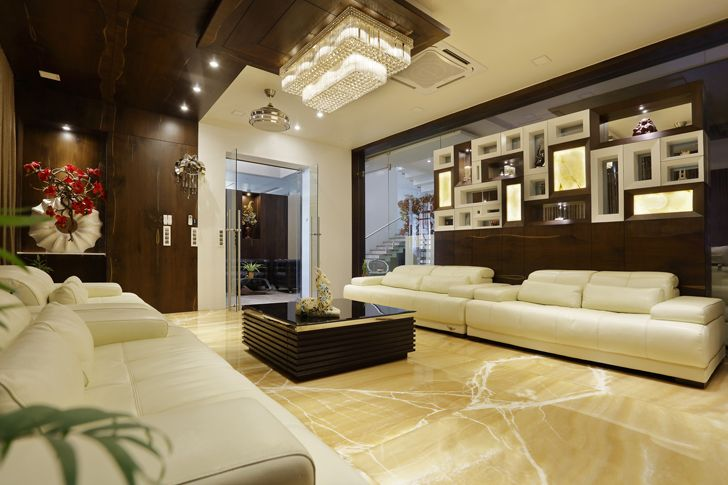 """living area balaji fertisers guest house cluster one indiaartndesign"""