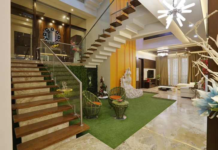"""staircase balaji fertisers guest house cluster one indiaartndesign"""