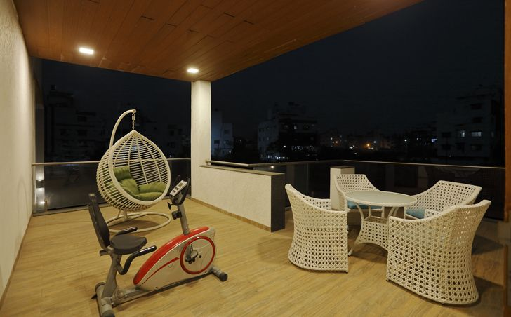 """terrace gym balaji fertisers guest house cluster one indiaartndesign"""