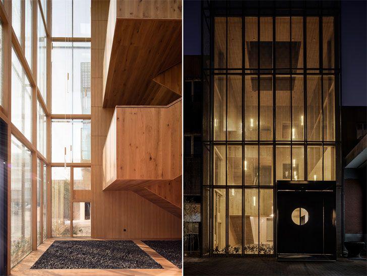 """facade designed by kengo kuma DL Atelier indiaartndesign"""