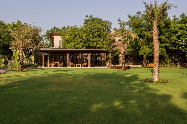 """gardens timeless home Hiren Patel Architects indiaartndesign"""