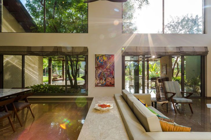 """living dining timeless home Hiren Patel Architects indiaartndesign"""