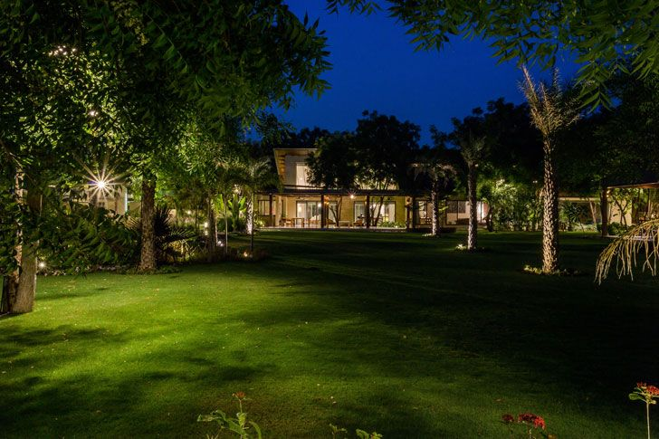 """lush landscape timeless home Hiren Patel Architects indiaartndesign"""