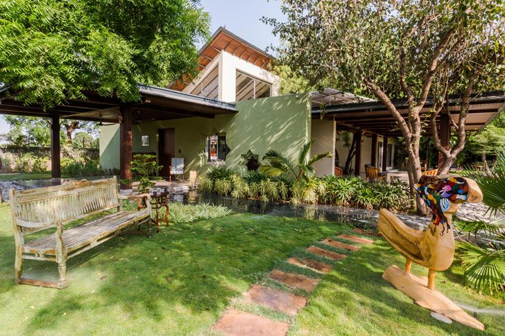 """outdoors timeless home Hiren Patel Architects indiaartndesign"""