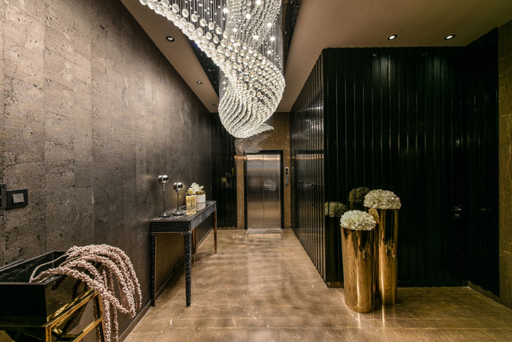 """entrance foyer luxury penthouse KNS architects indiaartndesign"""