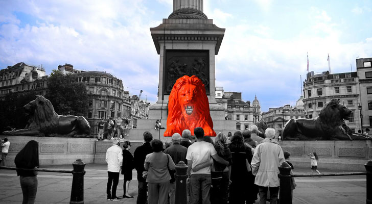 """trafalgar square landmark project LDF 2018 indiaartndesign"""