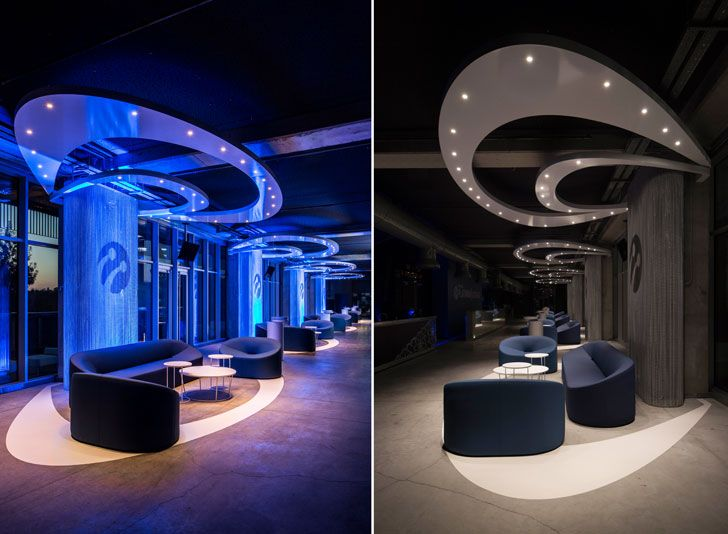 """changing lighting Turkcell Platinum Lounge Mimari studio indiaartndesign"""