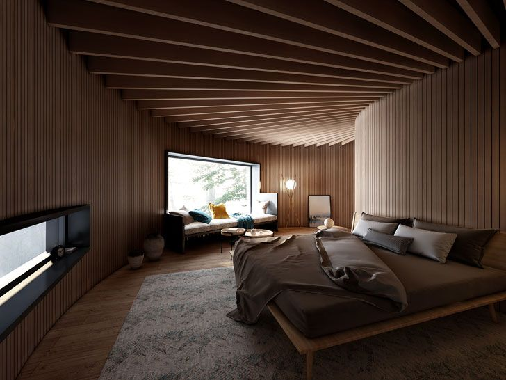 """bedroom interiors tree wow monoarchi architects indiaartndesign"""
