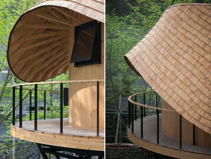 """undulating roof and deck tree wow monoarchi architects indiaartndesign"""