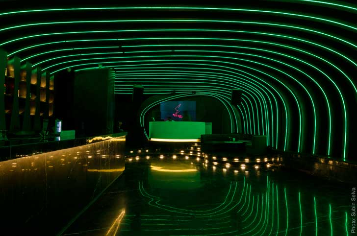 """ambient lighting vortex nightclub Studio Emergence indiaartndesign"""