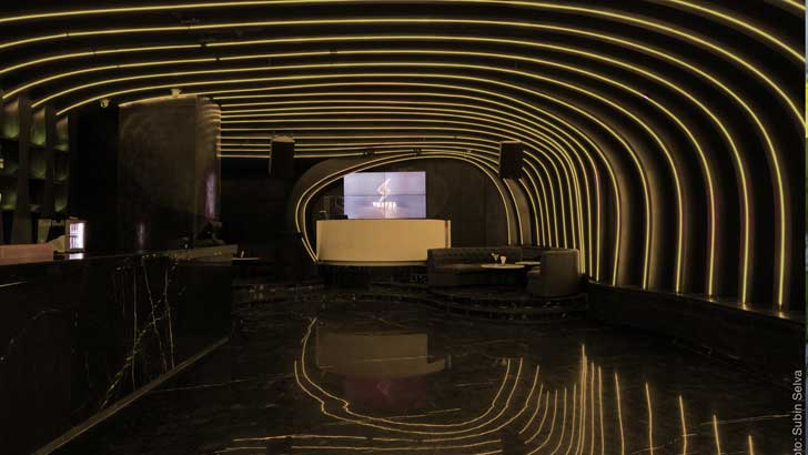 """curved ply vortex nightclub Studio Emergence indiaartndesign"""