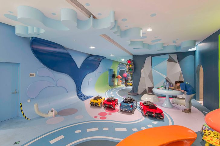 """colourful cars shanghai mall jungle race 100architects indiaartndesign"""