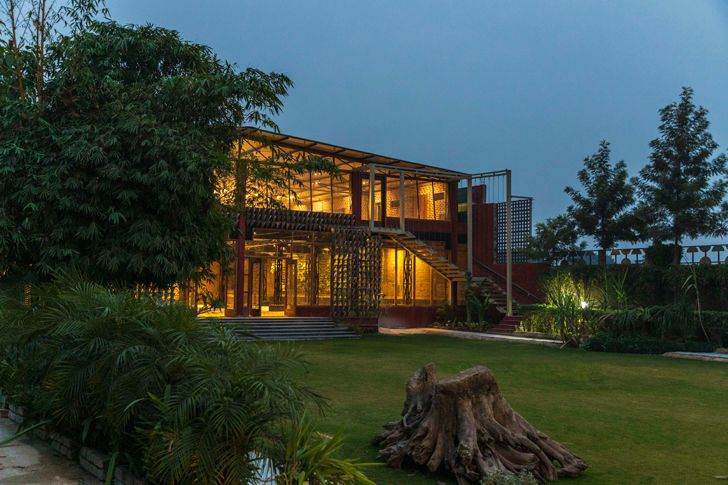 """by night panipat house intrigue designs indiaartndesign"""