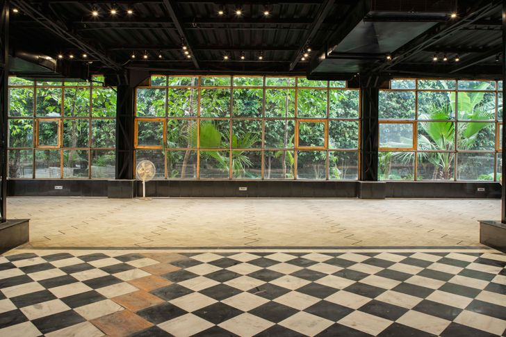 """geometric flooring panipat house intrigue designs indiaartndesign"""