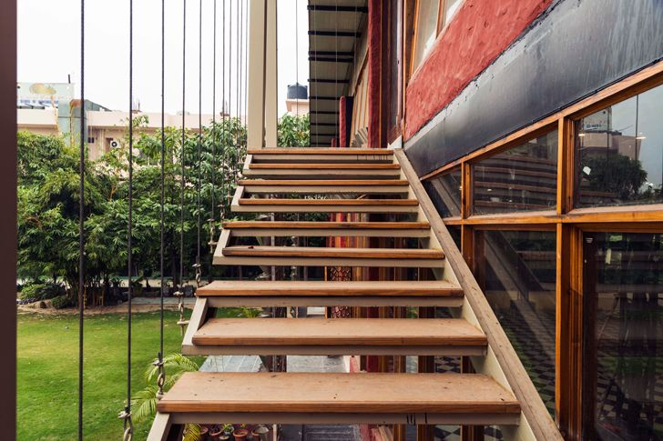 """stairs panipat house intrigue designs indiaartndesign"""