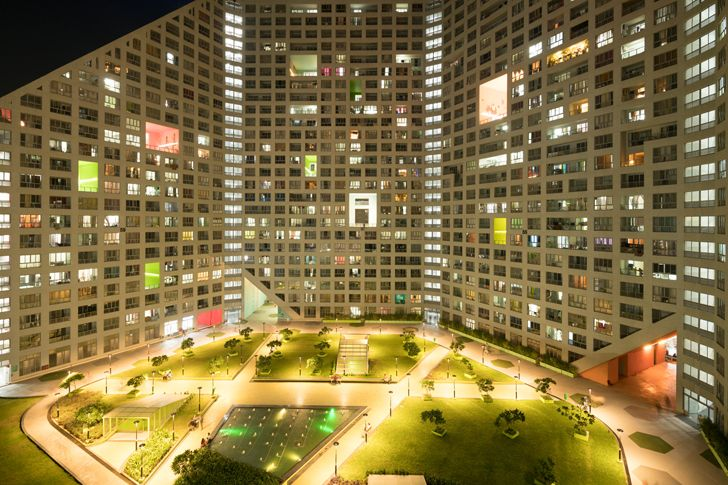"""by night towers mvrdv indiaartndesign"""