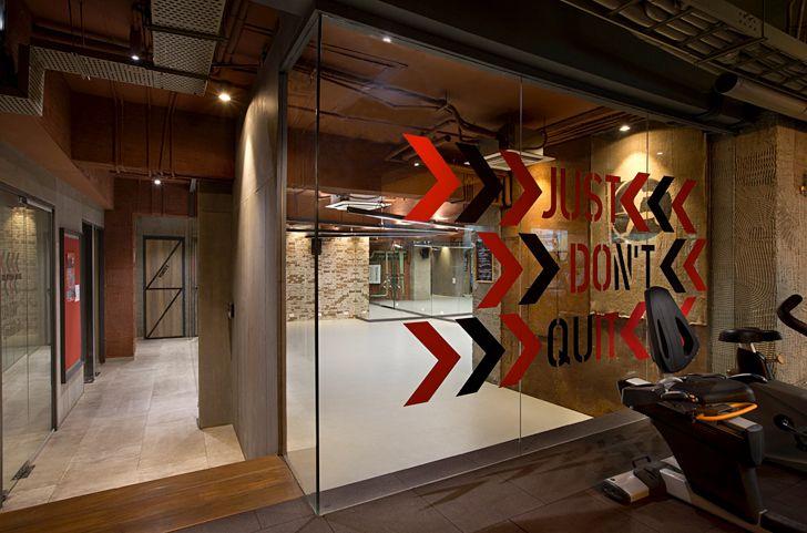 """group exercise zone  Bodyworks Space Dynamix Architects indiaartndesign"""