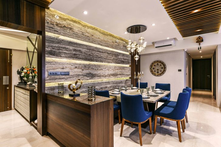 """dining pune residence the Spatium Interiors indiaartndesign"""