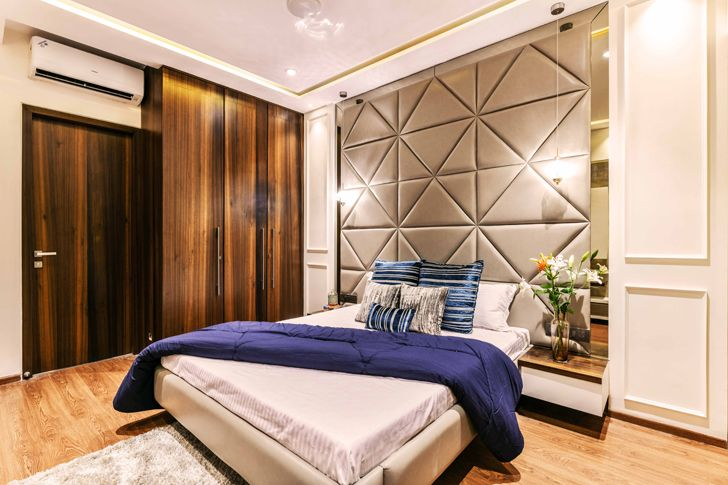 """guest bedroom pune residence the Spatium Interiors indiaartndesign"""