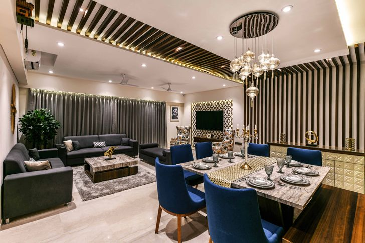 """living dining pune residence the Spatium Interiors indiaartndesign"""