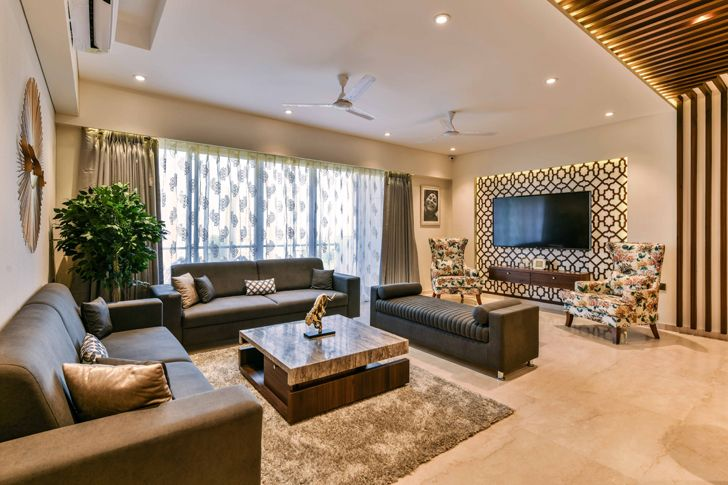 """living pune residence the Spatium Interiors indiaartndesign"""
