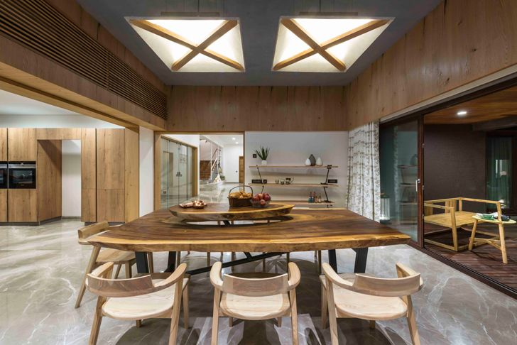 """dining interiors ahmedabad home the grid architects indiaartndesign"""