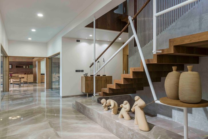 """staircase interiors ahmedabad home the grid architects indiaartndesign"""