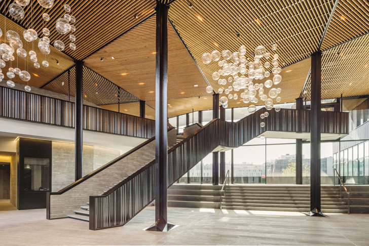 """""""double height lobby Batignolles mixed use Chartierdalix Architects indiaartndesign"""""""