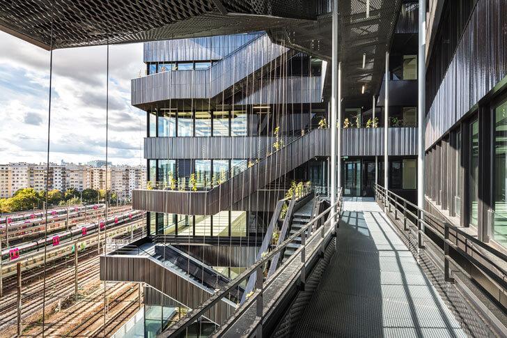 """exterior passages Batignolles mixed use Chartierdalix Architects indiaartndesign"""