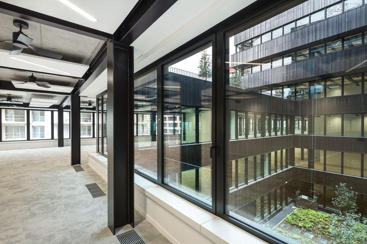 """interiors Batignolles mixed use Chartierdalix Architects indiaartndesign"""
