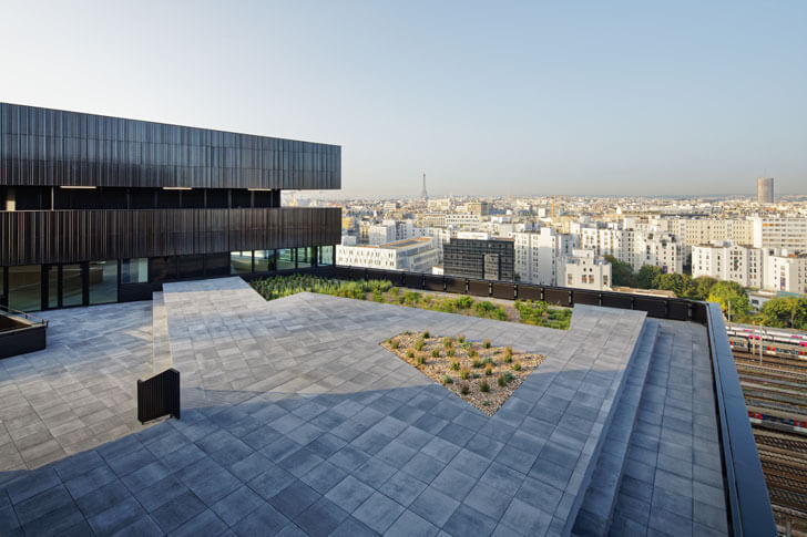 """terrace Batignolles mixed use Chartierdalix Architects indiaartndesign"""