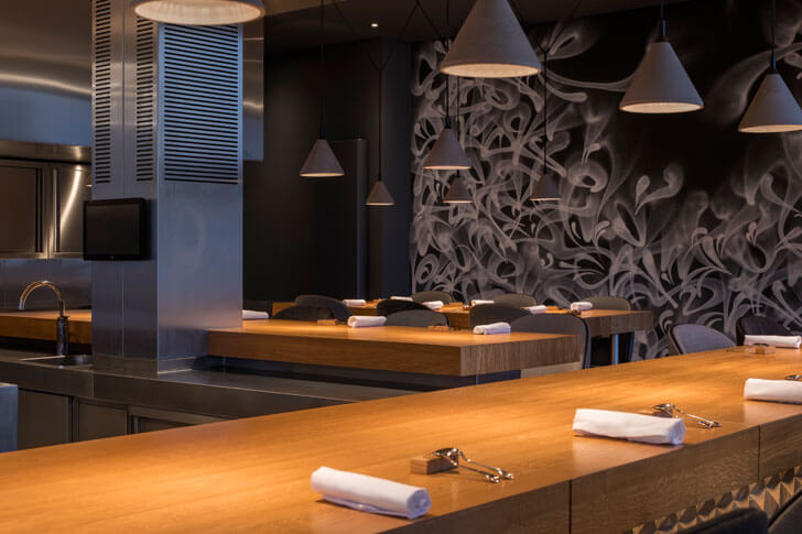 """open kitchen restaurant 212 concrete indiaartndesign"""