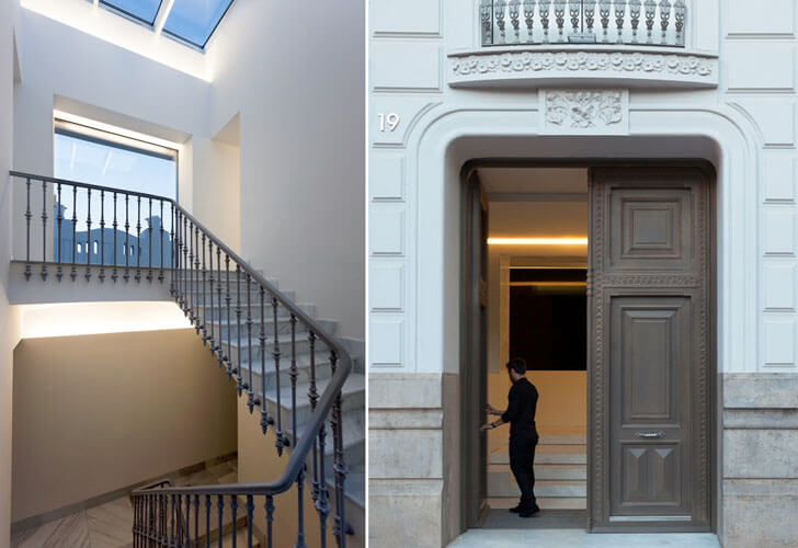 """restored staircase and door valencian architecture fran silvestre architects indiaartndesign"""