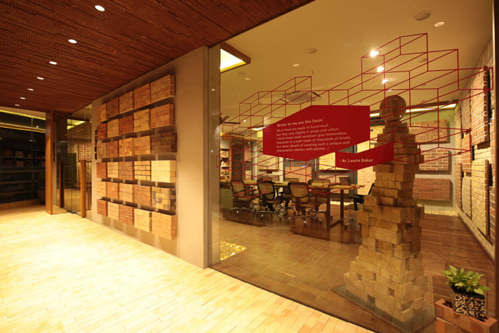 """brick display brick store modi srivastava architects indiaartndesign"""