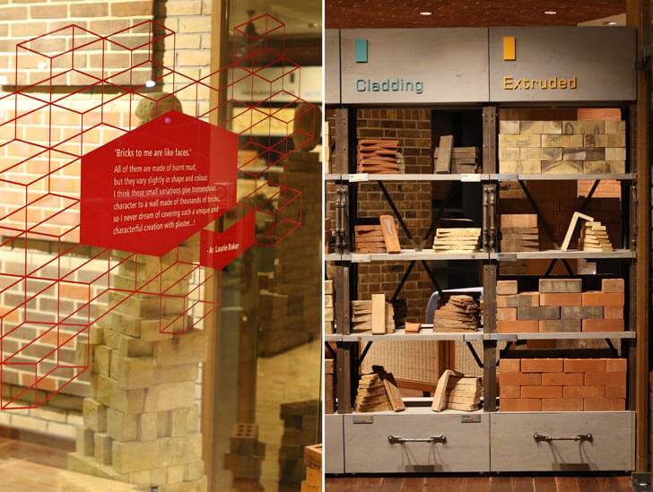 """endorsements brick store modi srivastava architects indiaartndesign"""
