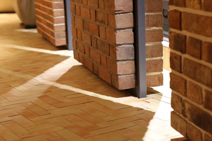 """freestanding brick display modi srivastava architects indiaartndesign"""