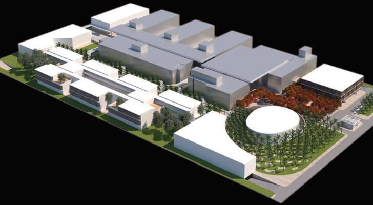"""Aerial view IESB Brasilia pei copp freed architects indiaartndesign"""